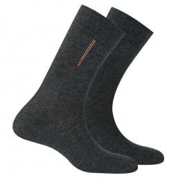 Pack de 2 paires de chaussettes en pur coton
