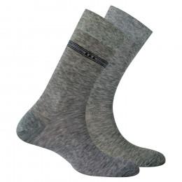 Lot de 2 paires de chaussettes en fil d'écosse anti odeur