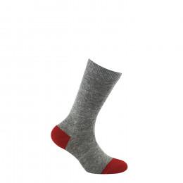 Mi-chaussettes unies talon et pointe colorés en coton