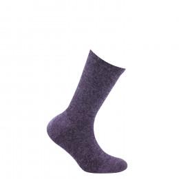 Chaussettes unies en viscose angora