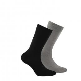 Lot de 2 paires chaussettes en coton biologique