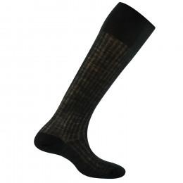 Chaussettes noires hautes en laine rhovyl