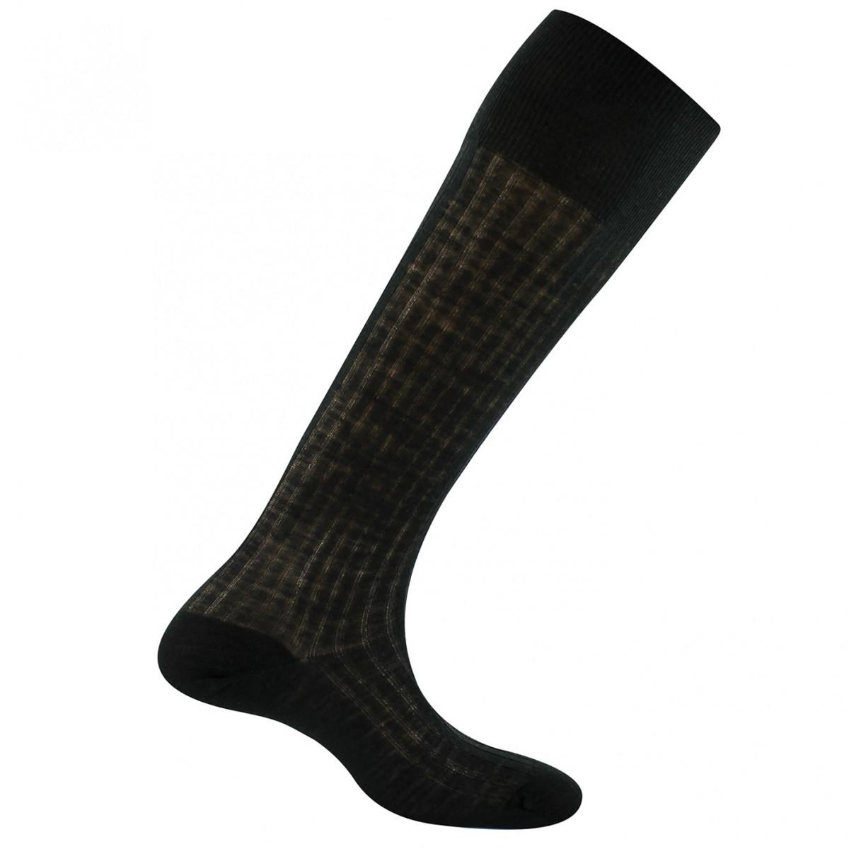 chaussettes noires hautes en laine rhovyl tso kindy. Black Bedroom Furniture Sets. Home Design Ideas