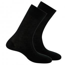 Lot de 2 paires de chaussettes noires pur fil d'écosse