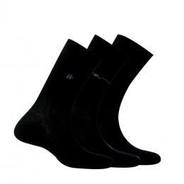 Lot de 3 paires de chaussettes fantaisies et unies en coton