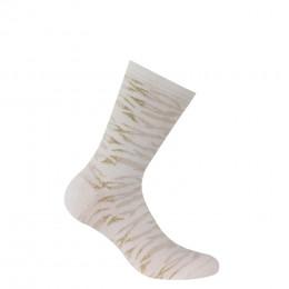 Chaussettes fantaisies zébrures en coton