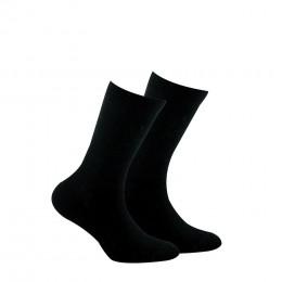 Mi-chaussettes unies en pur coton