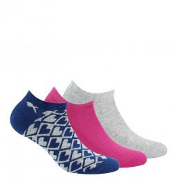 Pack de 3 paires de chaussettes invisibles en coton