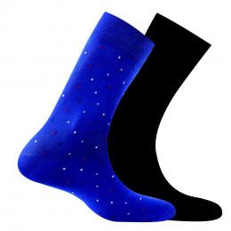 Pack de 2 paires de chaussettes en Fil d'écosse anti odeur Pixels + unies