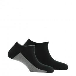Lot de 2 paires d'invisibles fabriquées en France en coton