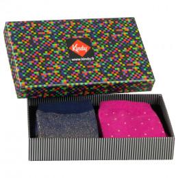 Coffret de 2 paires de chaussettes Lurex