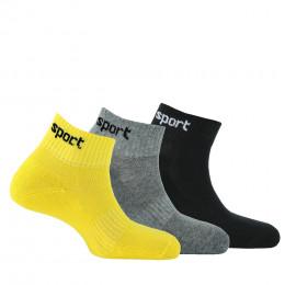 Lot de 3 paires de chaussettes ultra-courtes Sport Fashion